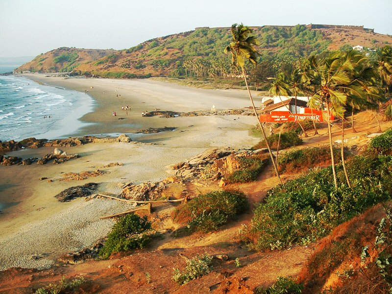 Vagator Beach in Goa