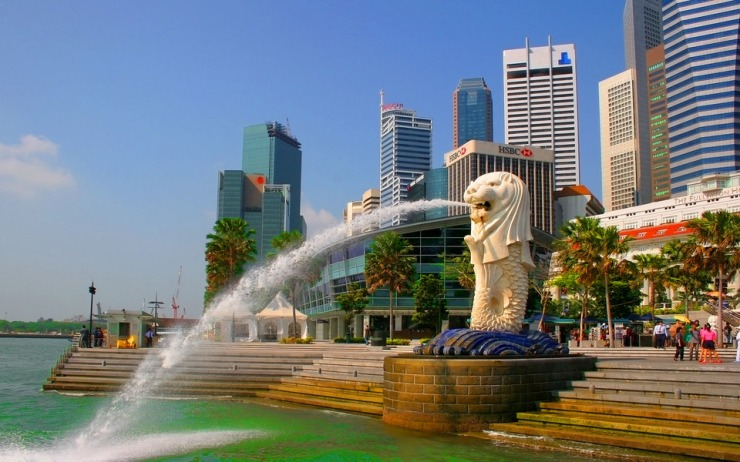 The lion city singapore
