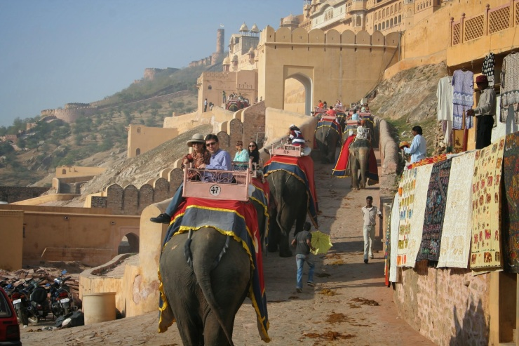 Elephant Ride at Amer Fort